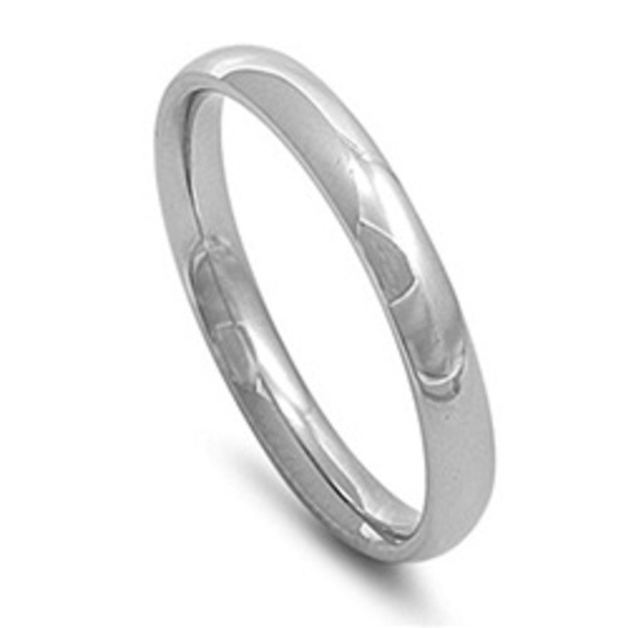 plain silver wedding bands. silver stainless steel plain comfort fit 3mm wedding band / ring bands t