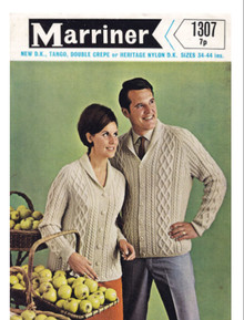 Vintage His and Hers Aran Cardigan