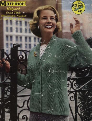 Ladies Vintage Heavy Weight Aran Cardigan