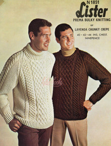 Vintage Aran Sweater with and without Collar