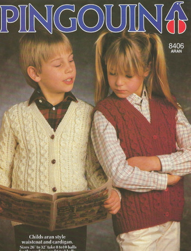 Childrens Vintage Aran Sweater
