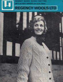 Vintage Ladies Raglan Cardigan