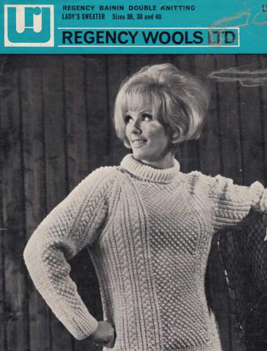 Ladies Vintage Roll Neck Blackberry Sweater