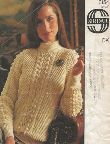 Retro Ladies Aran Sweater