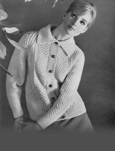 Ladies Vintage Collar Cardigan