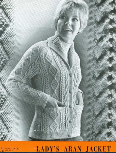 Ladies Vintage Aran Collar Jacket
