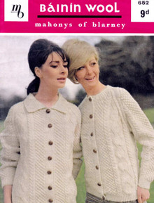 Ladies Vintage Two Cardigans Pattern
