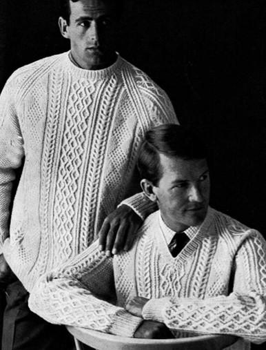 Men's Vintage Crew & V Neck Sweaters