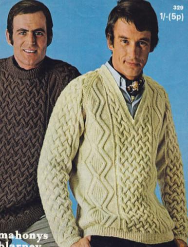 Men's Vintage Crew Neck - V Neck Sweaters