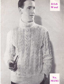 Men's Vintage Turtleneck Sweater