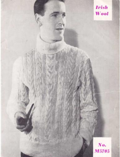 Men's Vintage Turtleneck Sweater