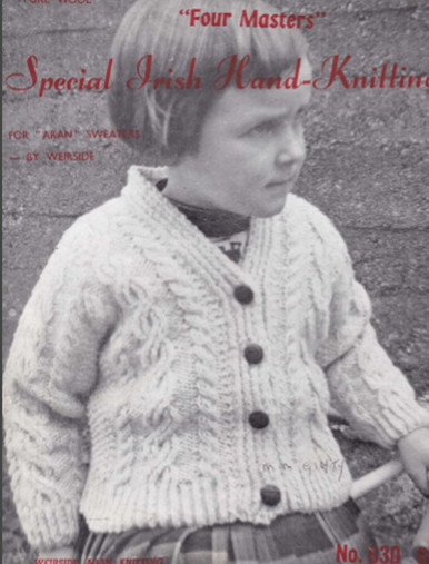 Children's Vintage Special Hand Knit Cardigan