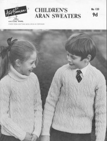 Children's Polo and V Neck Aran Sweater