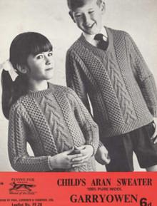 Children's Vintage Cross Stitch Sweater