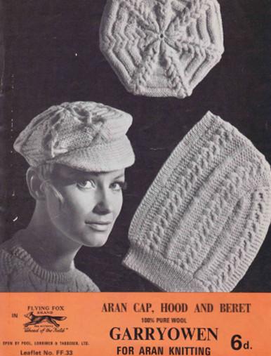 Vintage Aran Cap, Hood and Beret