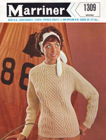Ladies Vintage Lightweight Aran Sweater