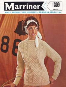 Ladies Vintage Lightweight Aran Sweater