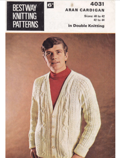 Vintage Men's Cardigan with Button Detail