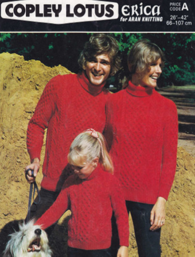Vintage Aran Family Turtleneck Sweaters