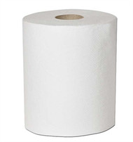 WHITE BLEACHED ROLL TOWEL 8 X 600' PK