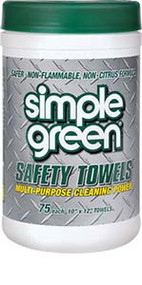 CLEANER SIMPLE GREEN TOWELS 6 TUBS/ 75 PCS. PER TUB