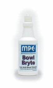 BOWL CLEANER BOWL BRYTE 9% ACID QUARTS BOB (LOW ACID) 12/QUARTS PER CASE