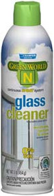 GLASS CLEANER  GREEN WORLD  140Z 12/CS