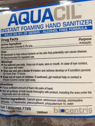 HAND SOAP  FOAM SANITIZER AQUACIL ALCOHOL-FREE ANTISEPTIC 1000 ML X 6 PER CASE