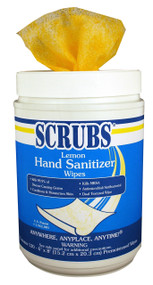 "SCRUBS HAND LEMON  6"" X 8"" SANITIZER  6  X 120 WIPES"
