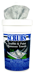 GRAFFITI SCRUBS VANDAL REMOVER 6- 30 WIPE CONTAINERS