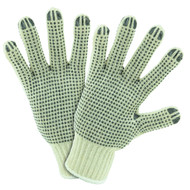 LADIES STRING KNIT DOUBLE DOT GLOVE 12 PAIR PER CASE
