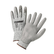 GRAY TOUCH HPPE PU GLOVES  12 PAIR PER CASE