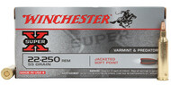 Winchester .22-250 Remington 55gr JSP