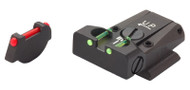 LPA TTF Adjustable Sight Set Ruger P Series Steel Fiber Optic