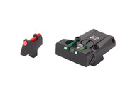 LPA TTF Fiber Optic Sight Set - Colt Series 80 1911