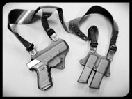 Reaper Custom Shoulder Holster w/th Double Magazine Pouch