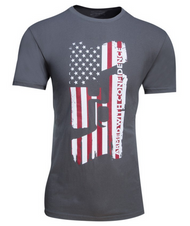 Glock Confidence Flag Charcoal T-Shirt