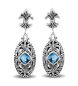 Blue Topaz sterling silver earrings.