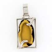 Sterling silver Amber pendant.