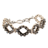 Moonstone sterling silver bracelet.