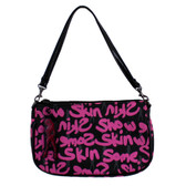 Pink and black Skin purse.