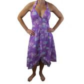 Purple halter sundress.