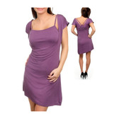 Purple tunic dress.
