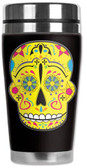 Sugar Skull Day of the Dead Travel Mug Water Proof Insulated Cup