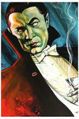 Bat Man by Mike Bell Tattoo Art Print  Monster Vampire Gothic Dracula Smoking