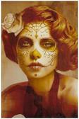 Vendimia Belleza by Daniel Esparza Tattoo Art Print  Day of the Dead Sugar Skull