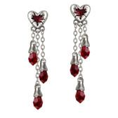Alchemy Gothic E272 Bleeding Heart Earrings