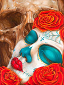 Skull & Roses - Canvas Giclee