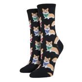 Women's Crew Socks - Corgi