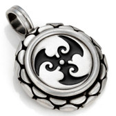 BICO Pacific Australia Jewelry Tribal Pewter Pendant TRISPARA Surf Wear B91 Black